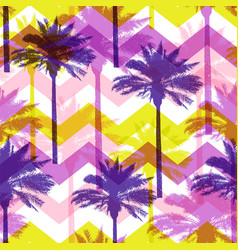 tropical pattern with coconut palms vector image