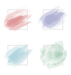 watercolor brush stroke with line frame vector image