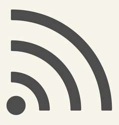 wi-fi signal solid icon internet vector image