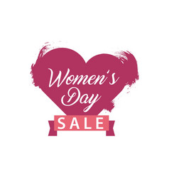 Womens day sale template design vector