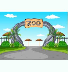 Zoo entrance with no visitors vector