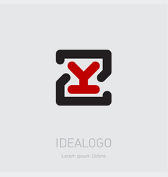 zy - design element or icon initial monogram vector image