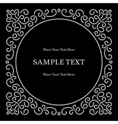 Jewelry frame vector image vector image