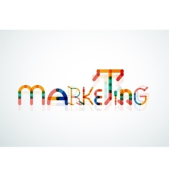 Marketing word font concept vector image