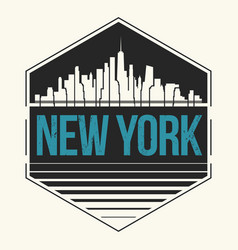 new york city graphic t-shirt design tee print vector image