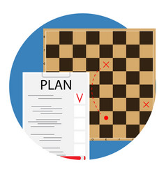 plan and tactic vector image vector image