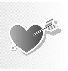 arrow heart sign new year blackish icon vector image