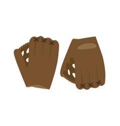 baseball glove ball isolated vector image vector image