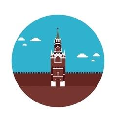 flat icon Kremlin vector image