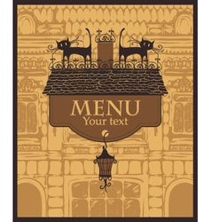 house menu vector image