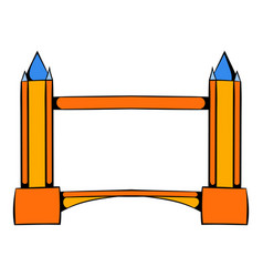 tower bridge in london icon cartoon vector image