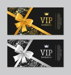 vip invitation and card set vector image vector image
