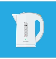 White electric teapot modern kettle vector image vector image