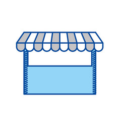 blue contour of store icon vector image
