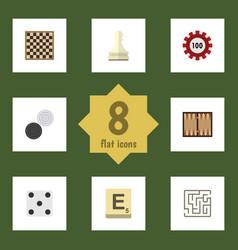 flat icon play set of mahjong labyrinth pawn and vector image