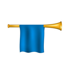 trumpet with blue flag vector image