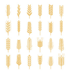 Agricultural icons set nature pictures of vector