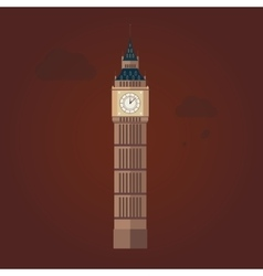 Big Ben in Flat Design vector image