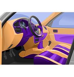 car interior vector image vector image