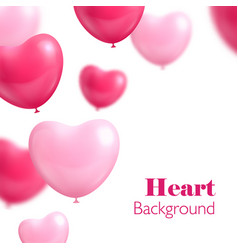 hearts balloon white background vector image vector image