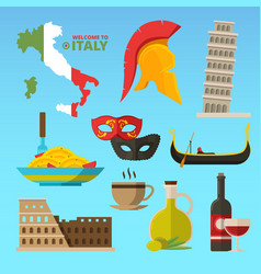 historical symbols of rome italy vector image