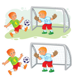 two little boys playing vector image vector image