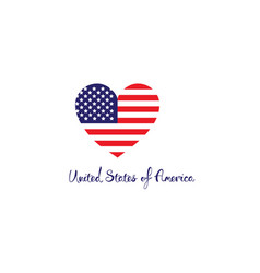 united states of america concept red white blue vector image