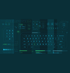 A set hud keyboards elements for a futuristic vector