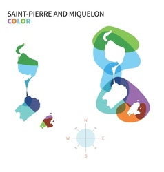 Abstract color map of saint-pierre and vector