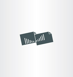 accounting statistics folder icon vector image