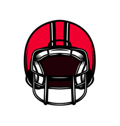 American football sport helmet isolated on white vector