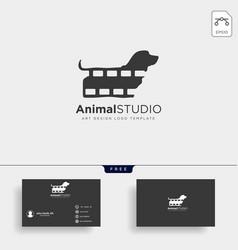Animal film studio logo template icon element vector