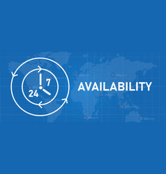 Availability 24 7 support technical support call vector