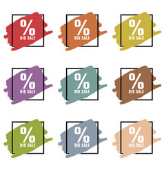 big sale icon set vector image