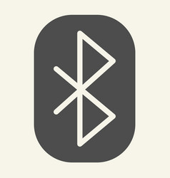 Bluetooth solid icon connection vector