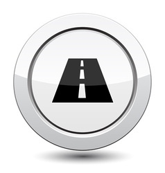 Button with road vector image
