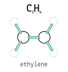 C2H4 ethylene molecule vector image