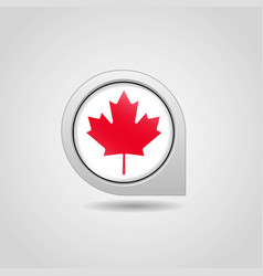 canada flag map pointer design vector image