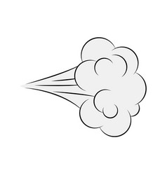 Cartoon blow comic smoke isolated on white vector