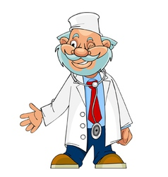 cartoon character cheerful doctor paramedic vector image