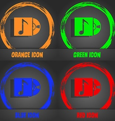 Cd player icon sign fashionable modern style in vector