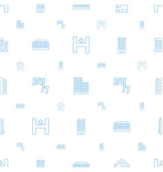 Center icons pattern seamless white background vector