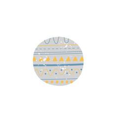 ceramic crockery with pattern flat vector image