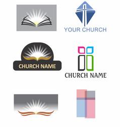 Church logos 1 vector
