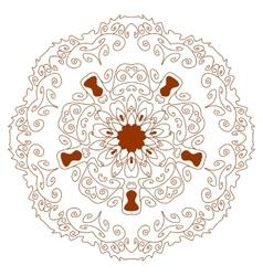 Circular ornament Mehndi Henna Tattoo Mandala vector image