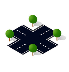 city road street is a highway vector image