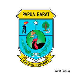 coat arms west papua is a indonesian region vector image