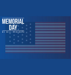 Collection banner memorial day style vector