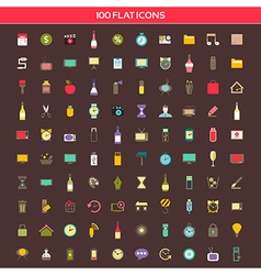 Collection flat icons vector image