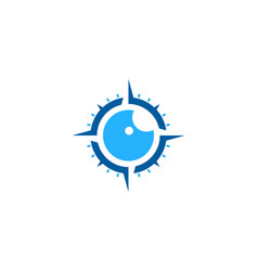 compass eye logo icon design vector image